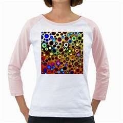 Colourful Circles Pattern Girly Raglans