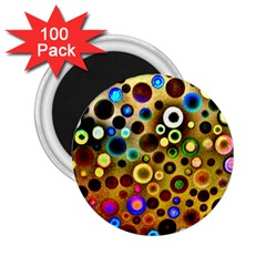 Colourful Circles Pattern 2.25  Magnets (100 pack)