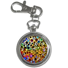 Colourful Circles Pattern Key Chain Watches