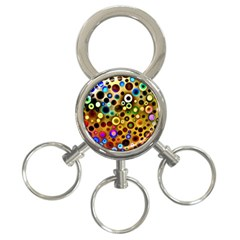 Colourful Circles Pattern 3-Ring Key Chains