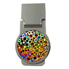 Colourful Circles Pattern Money Clips (round)