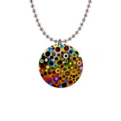 Colourful Circles Pattern Button Necklaces