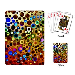 Colourful Circles Pattern Playing Card