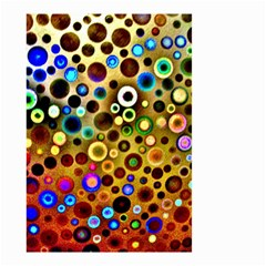 Colourful Circles Pattern Small Garden Flag (Two Sides)