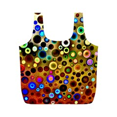 Colourful Circles Pattern Full Print Recycle Bags (M)