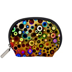Colourful Circles Pattern Accessory Pouches (Small)