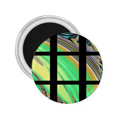 Black Window with Colorful Tiles 2.25  Magnets