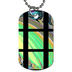 Black Window With Colorful Tiles Dog Tag (one Side)