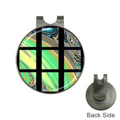 Black Window with Colorful Tiles Hat Clips with Golf Markers