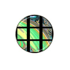Black Window With Colorful Tiles Hat Clip Ball Marker (4 Pack)