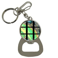 Black Window With Colorful Tiles Bottle Opener Key Chains