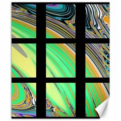 Black Window With Colorful Tiles Canvas 8  X 10