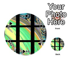 Black Window With Colorful Tiles Playing Cards 54 (round)