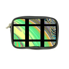 Black Window With Colorful Tiles Coin Purse