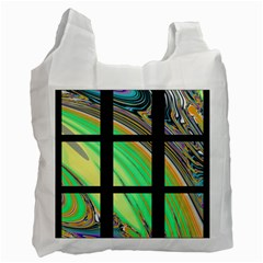 Black Window With Colorful Tiles Recycle Bag (one Side)