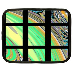 Black Window With Colorful Tiles Netbook Case (xxl)
