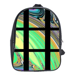 Black Window With Colorful Tiles School Bags(large)