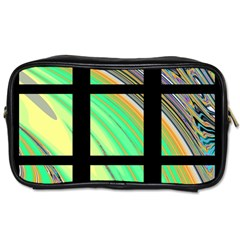 Black Window With Colorful Tiles Toiletries Bags 2 Side
