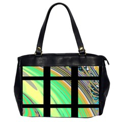Black Window with Colorful Tiles Office Handbags (2 Sides)