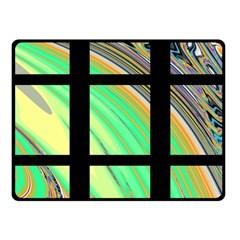 Black Window With Colorful Tiles Fleece Blanket (small)