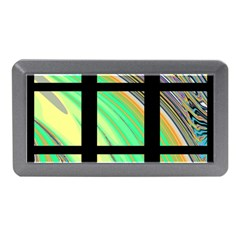 Black Window With Colorful Tiles Memory Card Reader (mini)