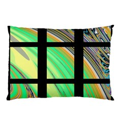 Black Window with Colorful Tiles Pillow Cases (Two Sides)