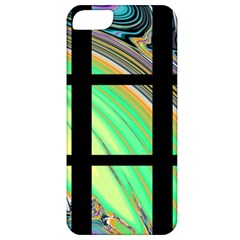 Black Window with Colorful Tiles Apple iPhone 5 Classic Hardshell Case