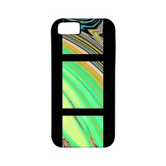 Black Window With Colorful Tiles Apple Iphone 5 Classic Hardshell Case (pc+silicone)