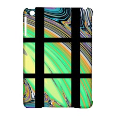 Black Window with Colorful Tiles Apple iPad Mini Hardshell Case (Compatible with Smart Cover)