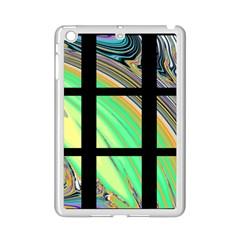 Black Window with Colorful Tiles iPad Mini 2 Enamel Coated Cases