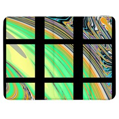 Black Window with Colorful Tiles Samsung Galaxy Tab 7  P1000 Flip Case