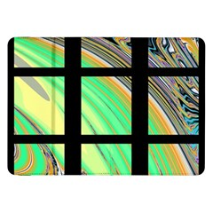 Black Window with Colorful Tiles Samsung Galaxy Tab 8.9  P7300 Flip Case