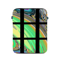 Black Window with Colorful Tiles Apple iPad 2/3/4 Protective Soft Cases