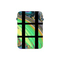 Black Window with Colorful Tiles Apple iPad Mini Protective Soft Cases