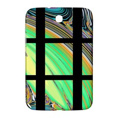Black Window with Colorful Tiles Samsung Galaxy Note 8.0 N5100 Hardshell Case