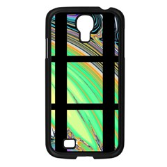 Black Window With Colorful Tiles Samsung Galaxy S4 I9500/ I9505 Case (black)