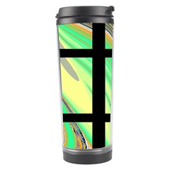 Black Window with Colorful Tiles Travel Tumblers