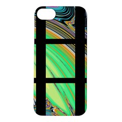 Black Window with Colorful Tiles Apple iPhone 5S Hardshell Case