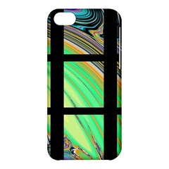 Black Window With Colorful Tiles Apple Iphone 5c Hardshell Case