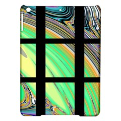 Black Window With Colorful Tiles Ipad Air Hardshell Cases
