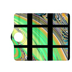 Black Window With Colorful Tiles Kindle Fire Hdx 8 9  Flip 360 Case