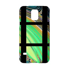 Black Window With Colorful Tiles Samsung Galaxy S5 Hardshell Case