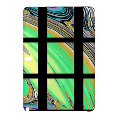 Black Window with Colorful Tiles Samsung Galaxy Tab Pro 12.2 Hardshell Case