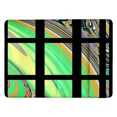 Black Window with Colorful Tiles Samsung Galaxy Tab Pro 12.2  Flip Case