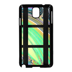 Black Window with Colorful Tiles Samsung Galaxy Note 3 Neo Hardshell Case (Black)