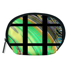 Black Window with Colorful Tiles Accessory Pouches (Medium)