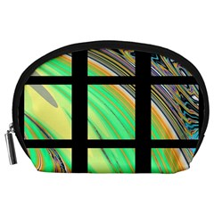 Black Window with Colorful Tiles Accessory Pouches (Large)