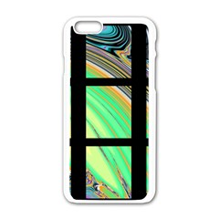 Black Window With Colorful Tiles Apple Iphone 6/6s White Enamel Case