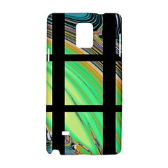 Black Window With Colorful Tiles Samsung Galaxy Note 4 Hardshell Case