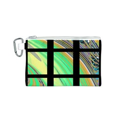 Black Window With Colorful Tiles Canvas Cosmetic Bag (s)
